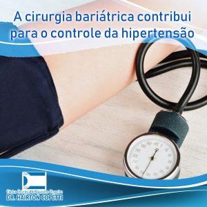 A cirurgia bariátrica contribui para o controle da hipertensão